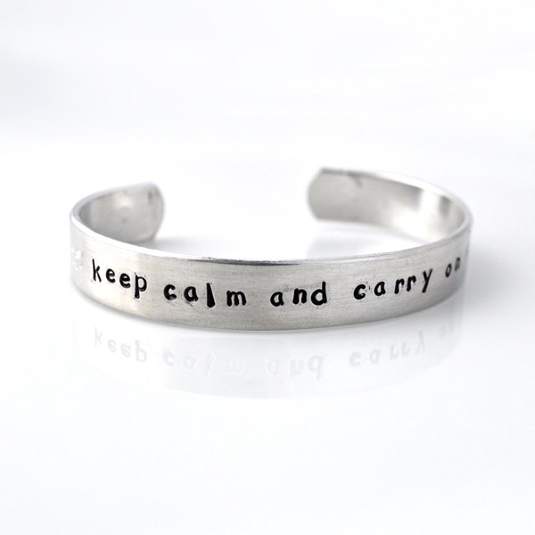 product on personalized keep by and hand custom stamped aluminum metal calm class of graduation cuff hugerect carry zadoo bracelet