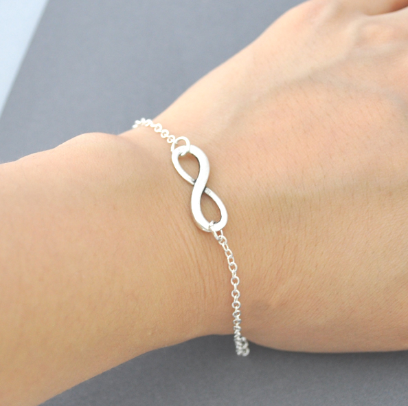 Silver Infinity Bracelet Everyday Jewelry Everlasting Lover Enternity Gift For Bff